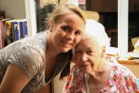 Spending time with Great-Grammy